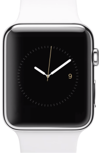 """""""White AppleWatch with Screen"""" by Justin14 - Own work. Licensed under CC BY-SA 4.0 via Wikimedia Commons - http://commons.wikimedia.org/wiki/File:White_AppleWatch_with_Screen.png#/media/File:White_AppleWatch_with_Screen.png"""